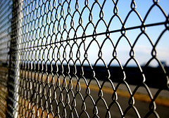 opening 40mm diamond wire mesh pvc coated galvanized chain link fence