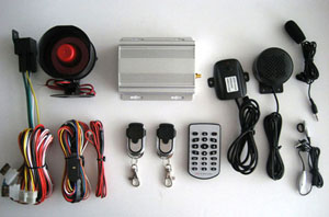 vehicle gsm alarm system sms control