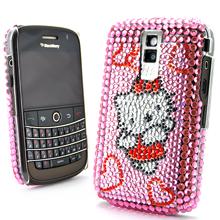 blackberry 8900 diamond rhinestone bling plastic hard case