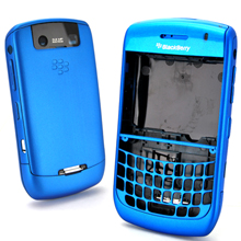 blackberry javelin curve 8900 frosted housing faceplate cover blue
