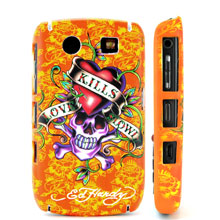 textured love kills ed tattoo hard case cover blackberry javelin curve 8900 orange