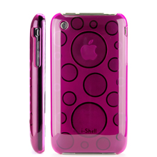 transparent circle pattern hard plastic case apple iphone 3gs 3g