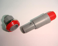 plastic connector lemo metal push pull
