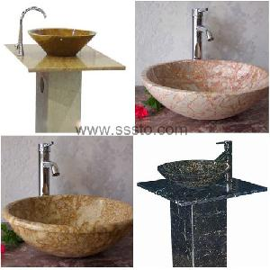 onyx sinks marble vessel granite washing basin bathtub pedestal sink