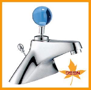 blue ball handle basin faucet