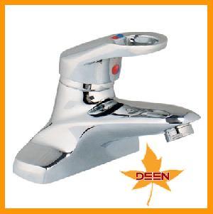 loop handle basin faucet