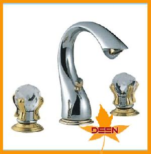 sliver brass basin faucet switch lever
