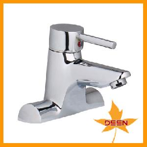 straight basin faucet water