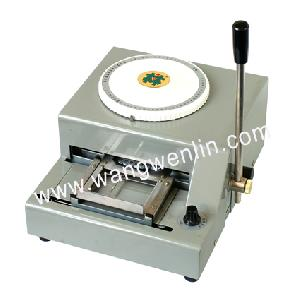 convex printing machine pvc card embosser