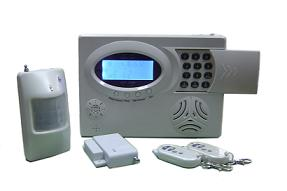 gsm security alarm system lcd display