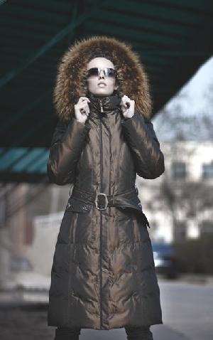 jacket lady garment women coat traje de plumon