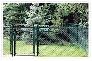 chain link fencing galvanized wire pvc coated sport field
