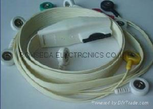 mortara holter 10 leads wires ekg cable