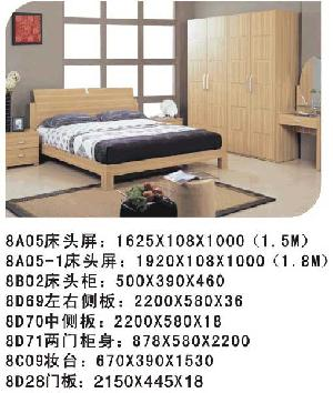 modern wooden bed bedroom furniture wardrobe mirrow home living room