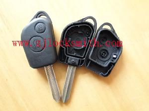 citroen 2button remote key shell