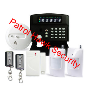 security alarm system cellular communication network