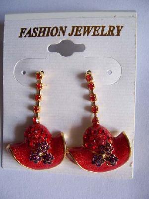 fashion hat earrings