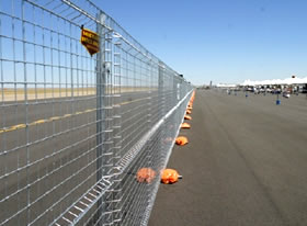 temporary mesh fencing