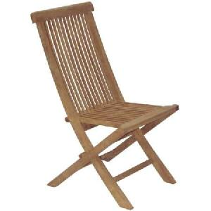 folding chair teak oil finished