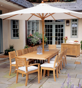 teak garden furniture umbrella