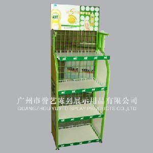 iron wood display stand