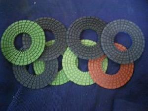 5 wet polishing pads granite marble