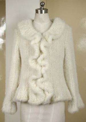 fur knitted garment