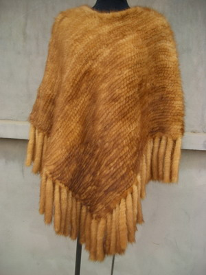 mink kintted poncho