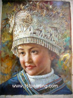 oil painting portrait photograph