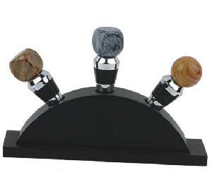 wine stopper wooden base