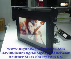 lcd vidieo screen instore industrial supermarkets bus ad player 7 32