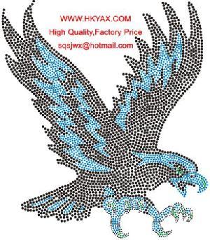 rhinestone crystal eagle motif