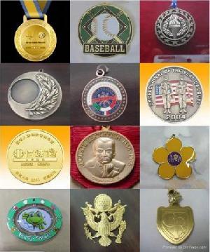 badge medal gold coin golden dog tag