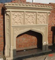 granite fireplace mantel surround gothic mantelpiece