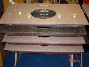 stone countertop kitchen vanity