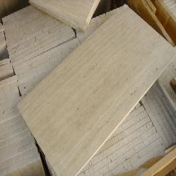 travertine stone tub slab