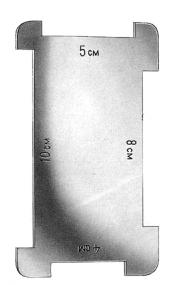 measuring scale dermatome