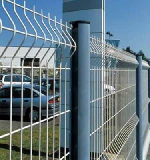 galvanized metal fence