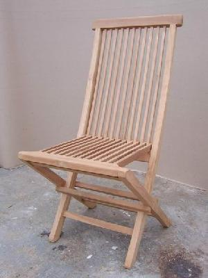 folding chair outdoor indoor teak oil finished