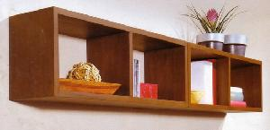 hanging bookshelf solid mahogany