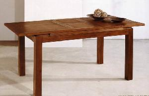 rectangular extention dining table mahogany wood