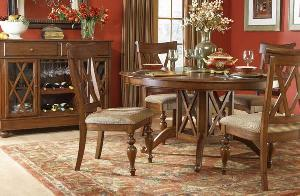 round dining solid mahogany wood