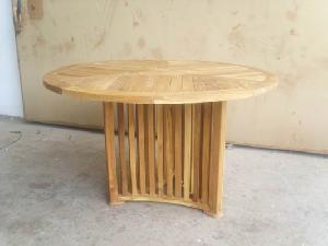 round teak table outdoor indoor
