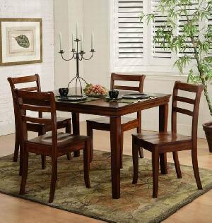 solo dining smooth finishing mahogany wood