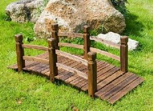 teak pond bridge outdoor