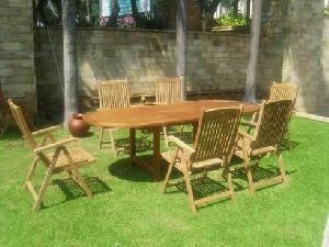 teak reclining outdoor furniture