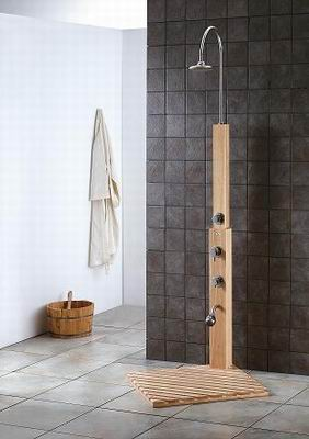 teak shower outdoor indoor