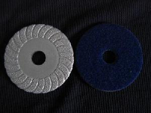 vacuum brazed turbo grinding pads