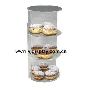 acrylic 3 tier bakery display