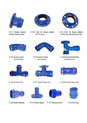 ductile iron pipe fittings pvc